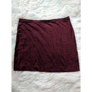 H&M Maroon Pencil Skirt